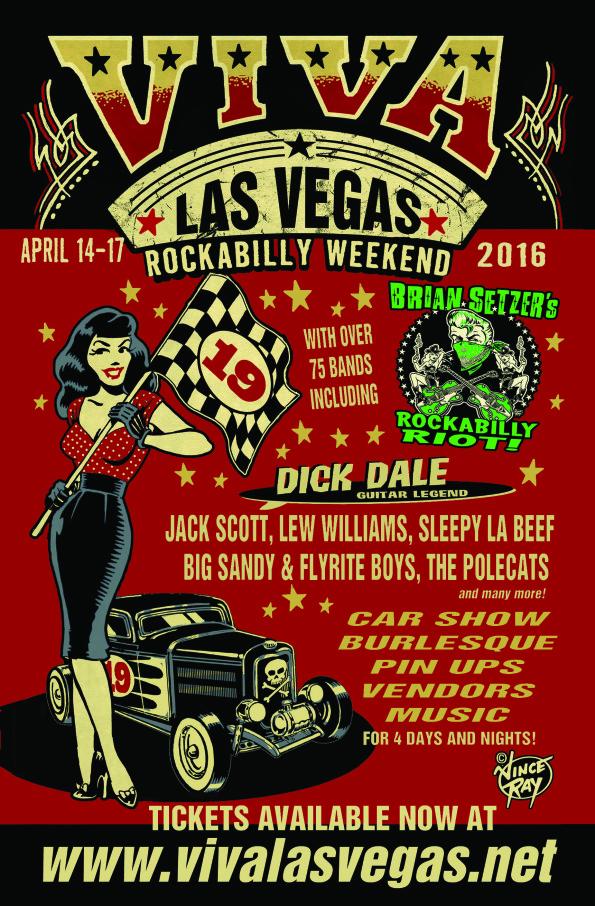 Brian Setzers Rockabilly Riot Headlining The Viva Las Vegas - Vegas rockabilly car show