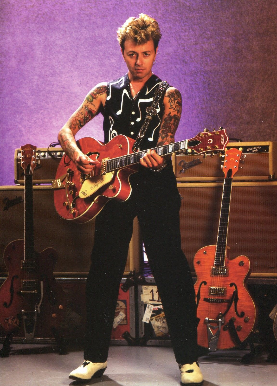 this month back in 98 brian was on the list of top 100 guitar solos of all time brian setzer. Black Bedroom Furniture Sets. Home Design Ideas